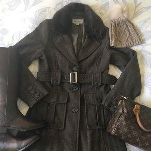 Merona Long Herringbone Jacket with Belt